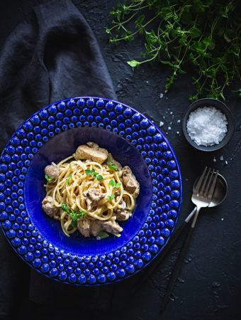 Grekisk kyckling med pasta