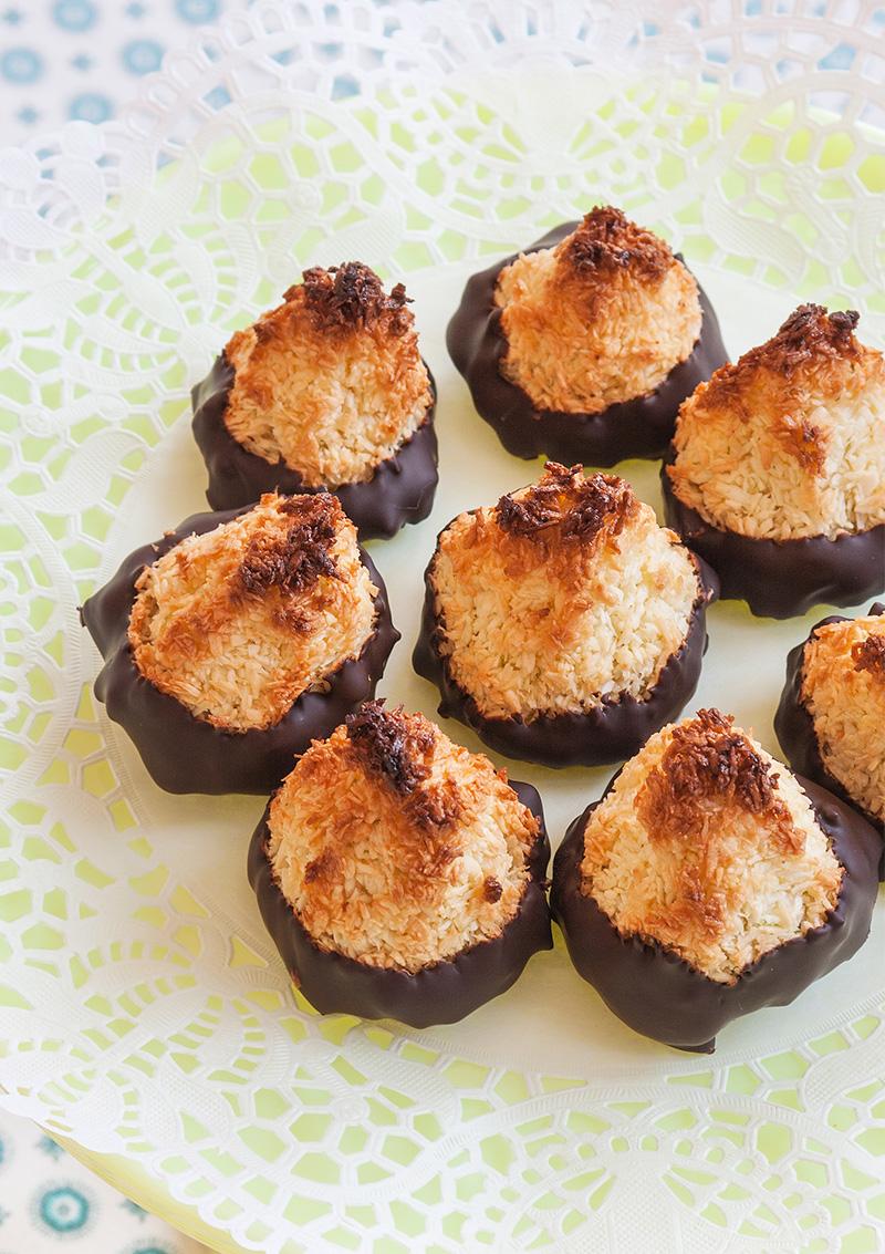 kokostoppar doppade i choklad