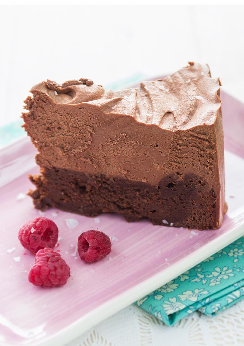 chokladmousse i tårta