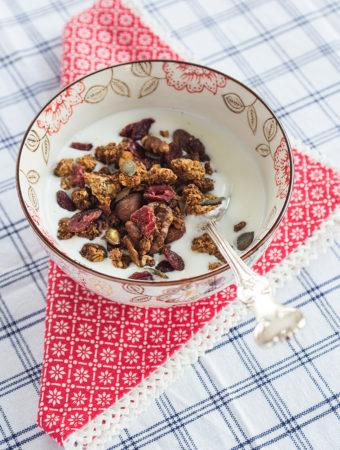 Julkryddad granola