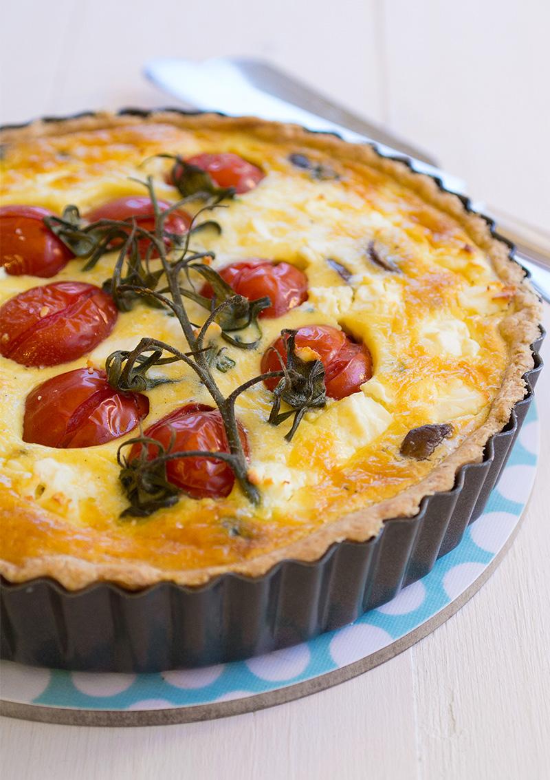 Tomatpaj med svamp och fetaost