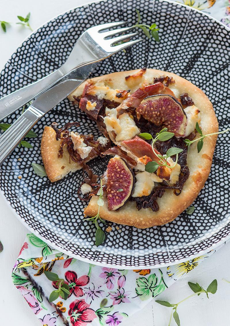 Pizza med fikon och chèvre