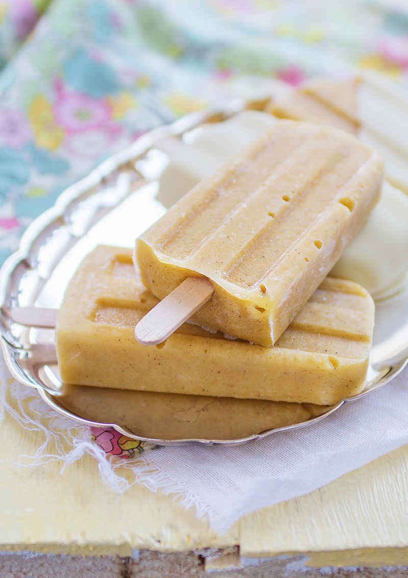 Banan- och mangoglass