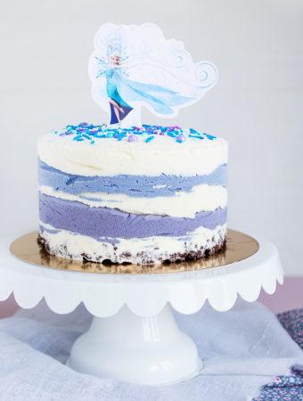 Glasstårta med Frost-tema