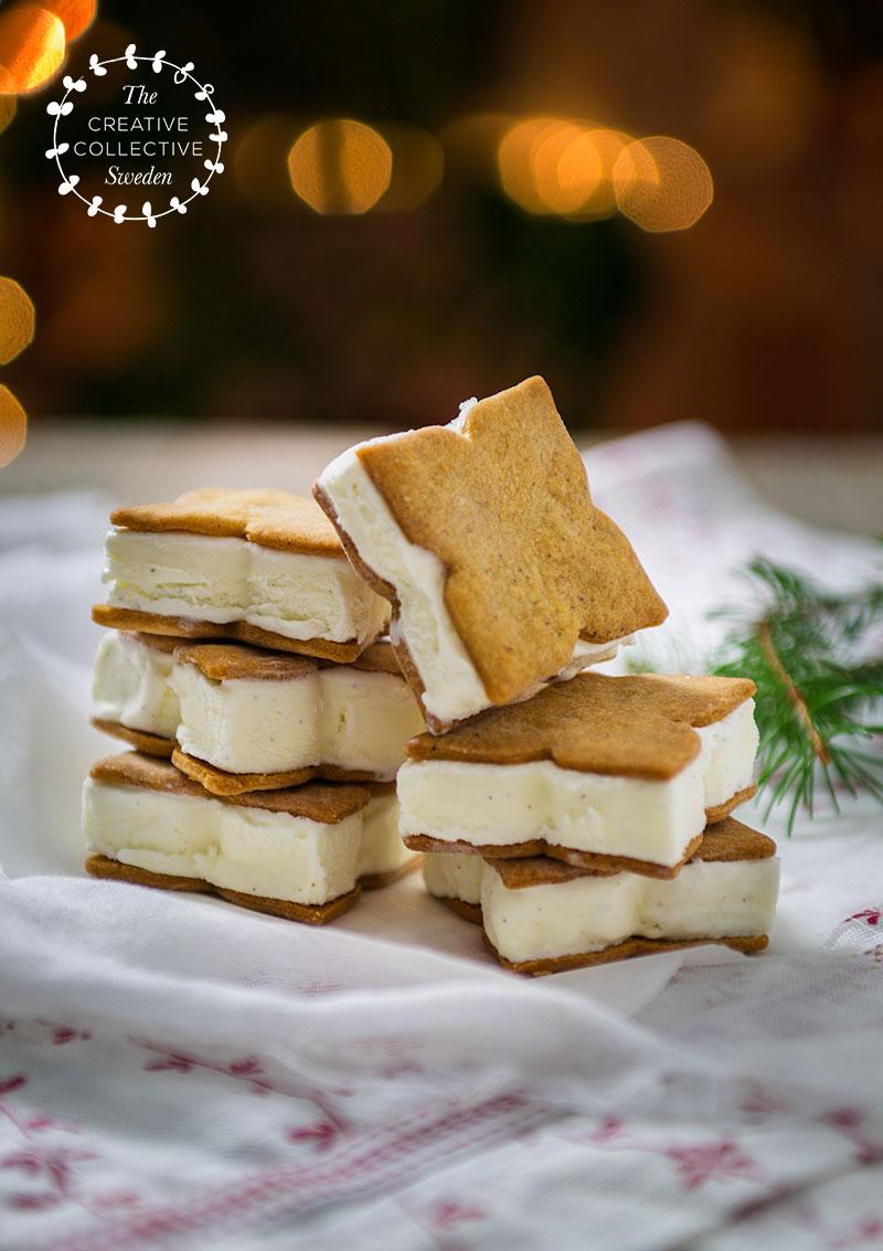 Glass-sandwich med pepparkaka