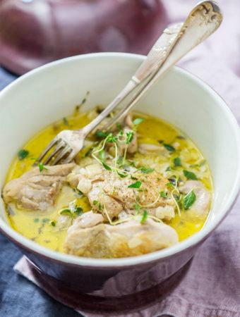 Kyckling med parmesan och timjansås