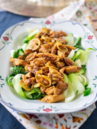 Lime- och ingefärskyckling med pak choi