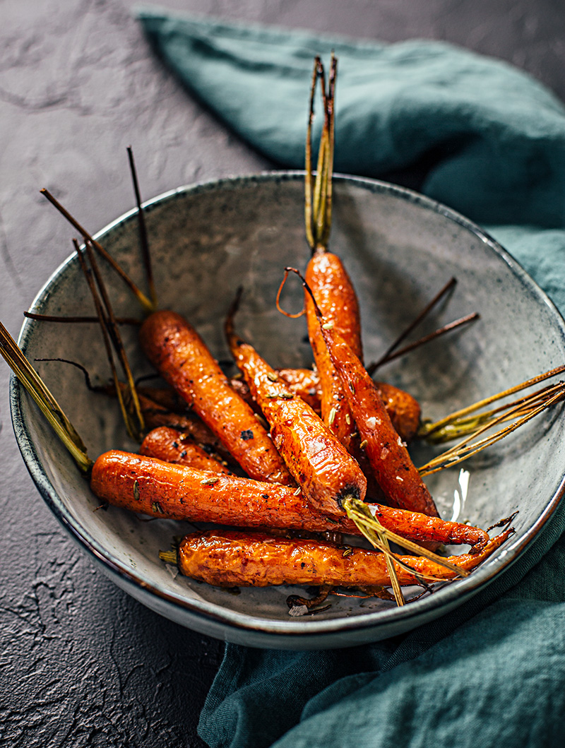 Ugnsrostade morötter med honung och fänkål